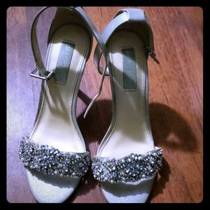 Betsey Johnson silver shoes
